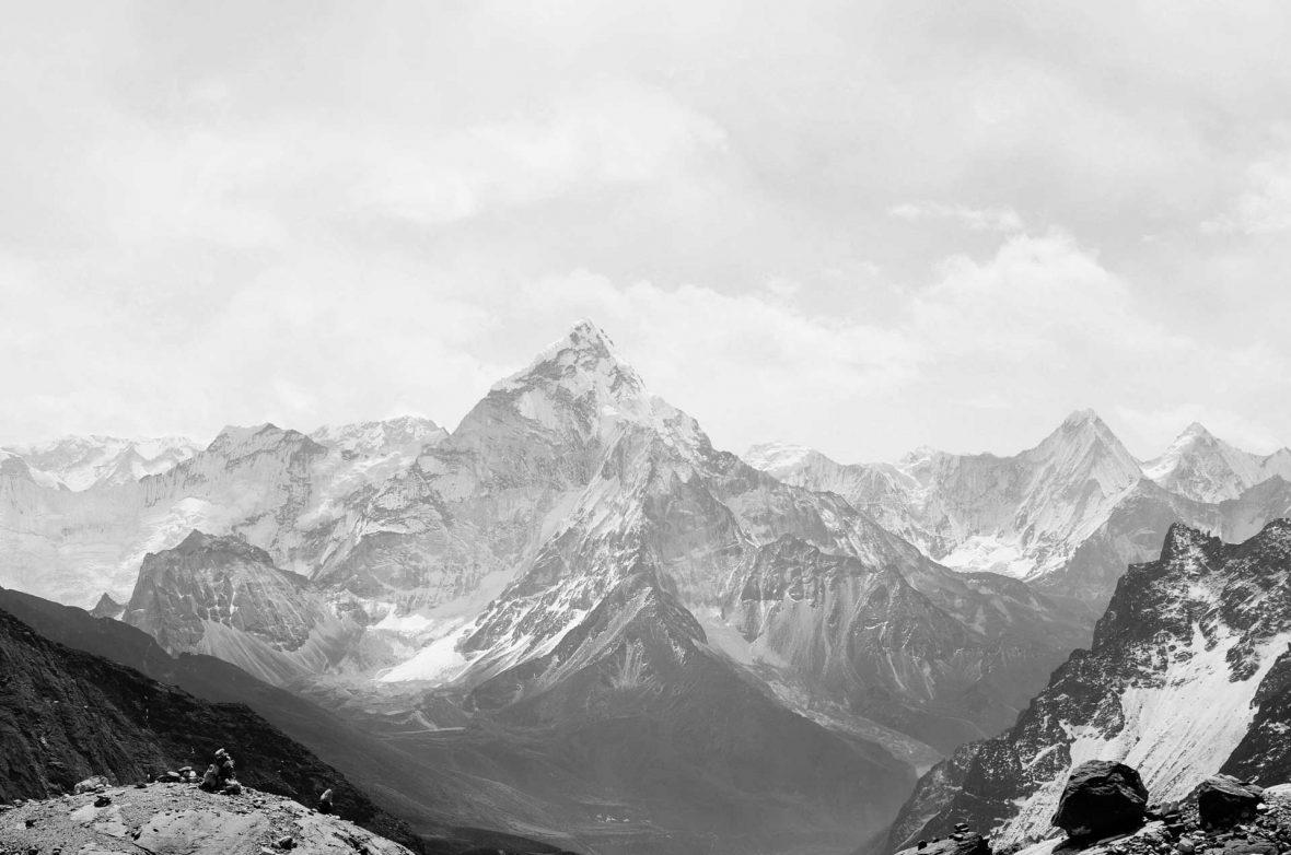 mountains-black-and-white