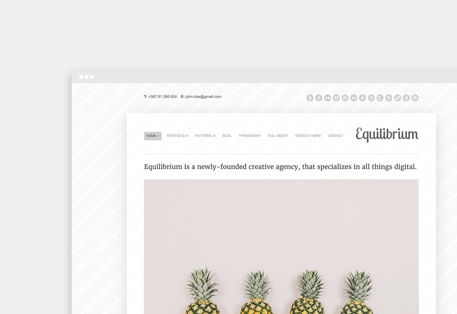 Equilibrium WordPress Theme