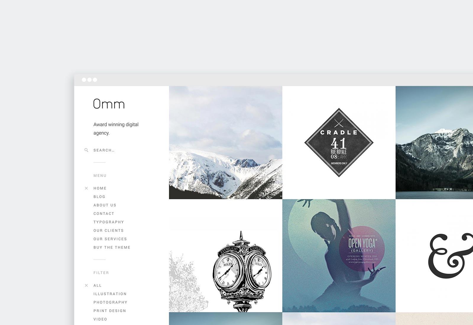 Omm WordPress Theme