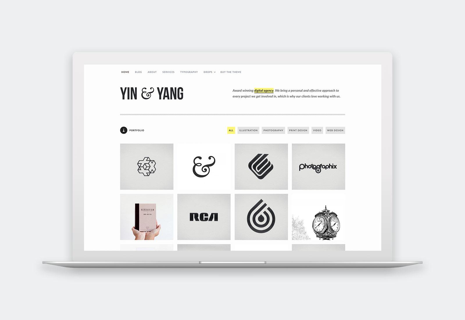 Yin & Yang WordPress Theme